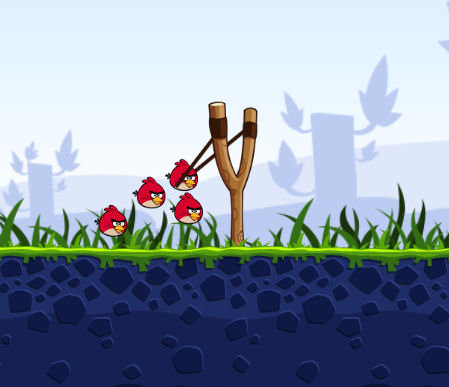 Angry Birds: Katapult opspannen…