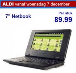"Aldi Netbook 7"" vanaf 7 december 2011 te koop in Nederland"