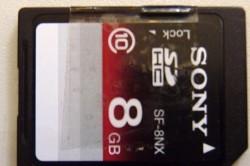 Hersteld ony SD-kaartje