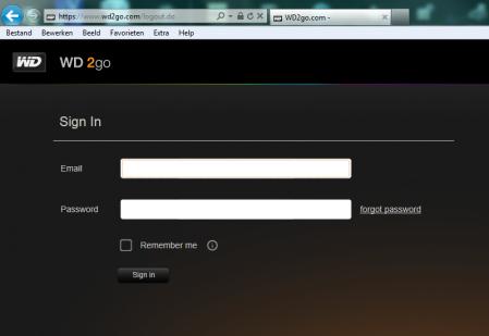 WD MyBook Live Duo Cloud Portaal