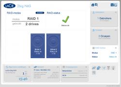 Dankzij de hot swappable RAID-1 modus kan je schijven vervangen terwijl het systeem is ingeschakeld