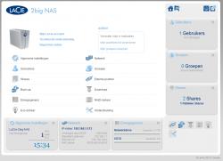 De webinterface van de LaCie 2big NAS is zéér overzichtelijk en gebruiksvriendelijk