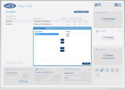 Het aanmaken van gebruikers, groepen en shares op de 2big NAS is erg eenvoudig