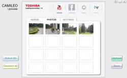 Toshiba camileo uploader