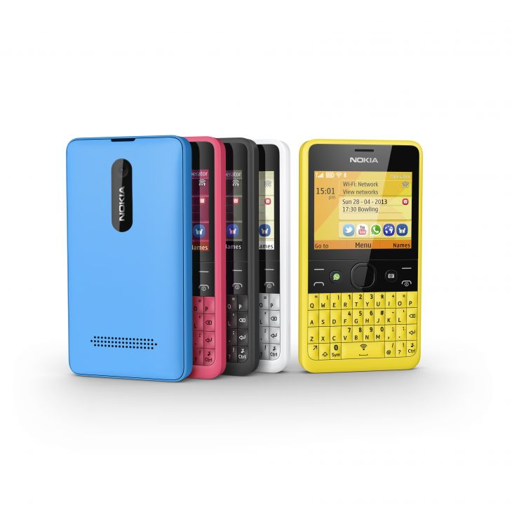 Scherp geprijsd Nokia Asha mobieltje met aparte Facebook-knop