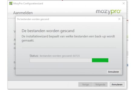 MozyPro client scan (Windows)