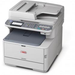 De Reverse Automatic Document Feeder (RADF) en het bedieningspaneel zweven als het ware boven de printerunit