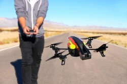 Parrot adviseert om de AR.Drone 2.0 niet te gebruiken bij slecht weer 