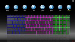 Met de meegeleverde software 'Keyboard Backlight Control Center' kan je de verlichting aanpassen