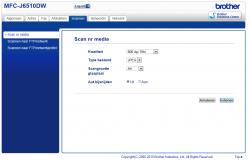 Brother MFCJ6510D Web Admin
