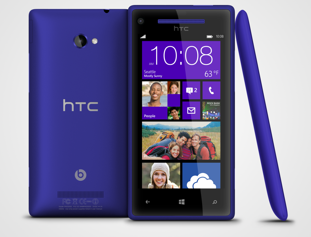 HTC smartphones met Windows Phone 8