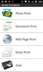 Brother print app Android Menu