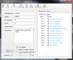 We hebben de Thecus TopTower N8850 onderworpen aan de Intel NAS Performance Toolkit (NASPT)