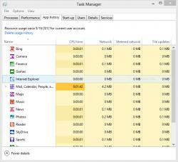 Windows 8 takenbeheer met aparte aandacht voor apps