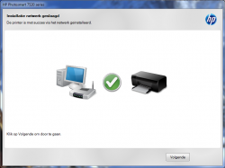 HP Photosmart 7520 verbonden met het netwerk