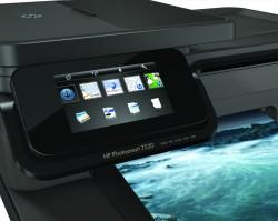 De HP Photosmart 7520 e-All-In-One Printer zich volledig laat bedienen via het aanraakscherm