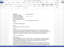 Office 2013 Word interface