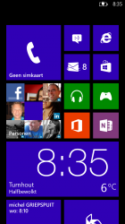 Windows Phone 8 startscherm
