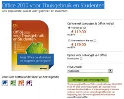Er hoort een bonus bij: het gratis upgraden naar de volgende versie, Office 2013