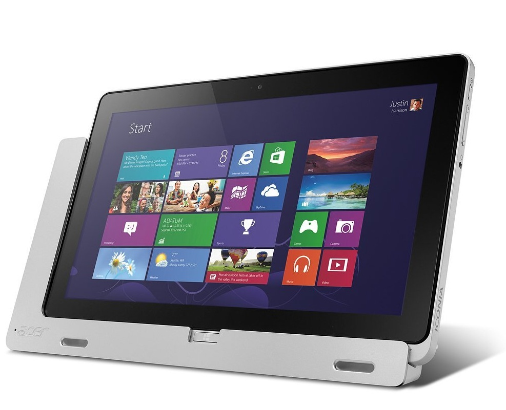 Acer Windows 8-tablet biedt laptop- of ultrabook-prestaties