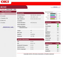 OKI MC342dnw webinfo