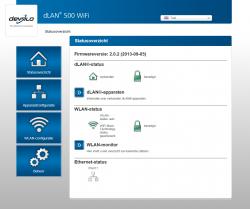 Devolo dLAN 500 Webinterface Start