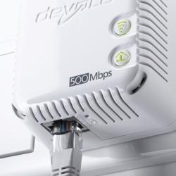 Op de dLAN 500 WiFi draadloze adapters is tevens een Fast Ethernet poort voorzien.
