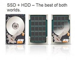 Met een hybride harde schijf (SSHD)