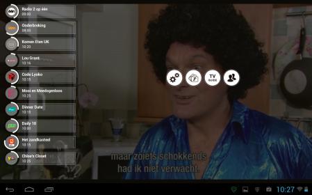 stievie android tv gids knop