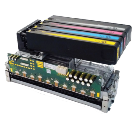 HP Page Wide Array printkop met inktcassettes