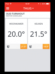 Honeywell evohome app interface