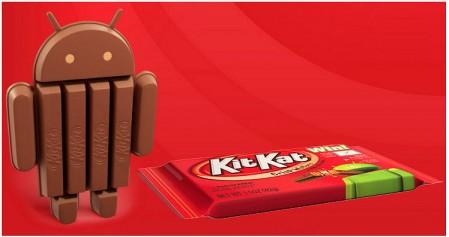 Besturingssyteem: Android 4.4 KitKat, genoemd naar…?