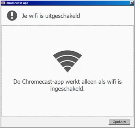 Zonder wifi kun je de installatie van de Chromecast niet uitvoeren