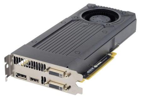 De GeForce GTX 760 referentiekaart van NVidia