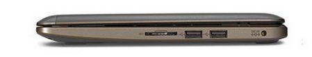 Rechts: Multi-kaartlezer, 2 x USB 2.0, voeding