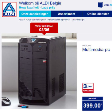 Medion Akoya MD 8321 (E4015E) Multimedia PC-systeem