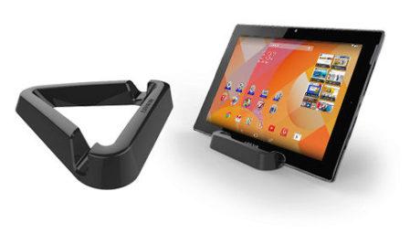 De tablet wordt geleverd met een handig steuntje