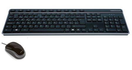 Met USB Azerty-klavier en USB muis