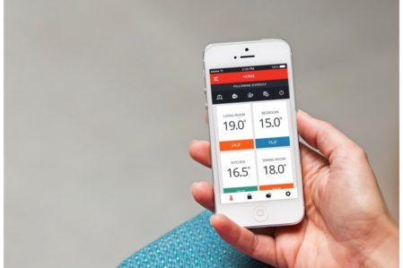 Honeywell evohome app op iPhone