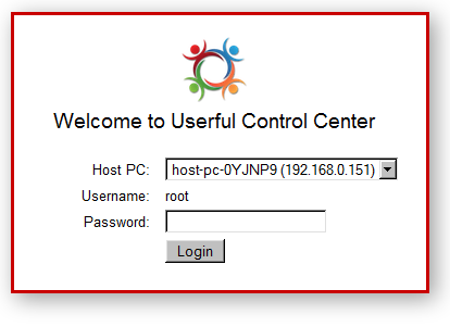 Userful Control Center inlog