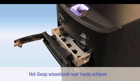 Hot swap-station voor verwisselbare harde schijven