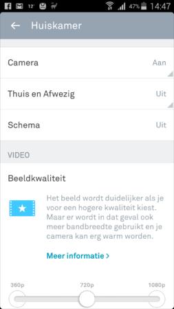 Nest Cam app instellingen
