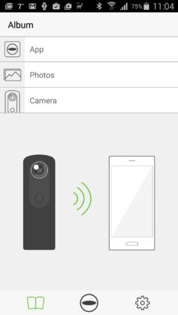 Ricoh Theta S Android app
