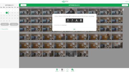 Arlo: selectie uit in de cloud bewaarde opnames
