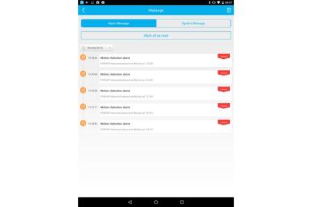 Foscam app: alarmen