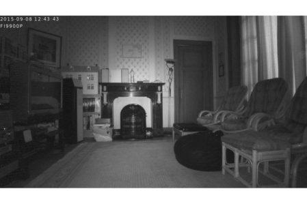 Foscam voorbeeld van nachtopname (infrarood)