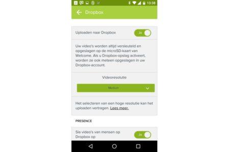 Netatmo Presence koppelen van Dropbox