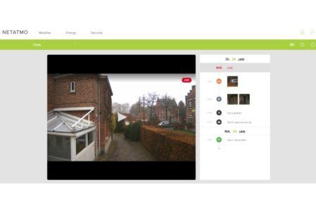 Netatmo Presence web-app (in Chrome)