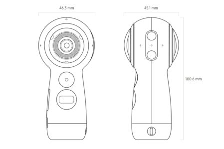 Samsung Gear 360 (2017) afmetingen