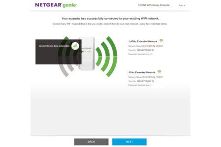 Netgear EX7300 connectie wizard